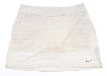 New Womens Nike Golf Skort Large L White MSRP $75 929853-100