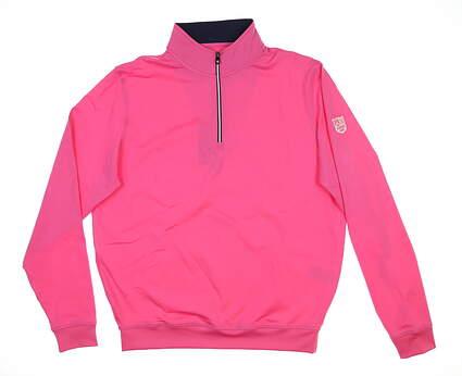 New W/ Logo Mens Footjoy 1/4 Zip Golf Pullover Medium M Pink 24692 MSRP $100