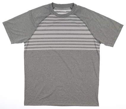 New Mens Peter Millar T-Shirt Medium M Gray MSRP $60 MS18EK97