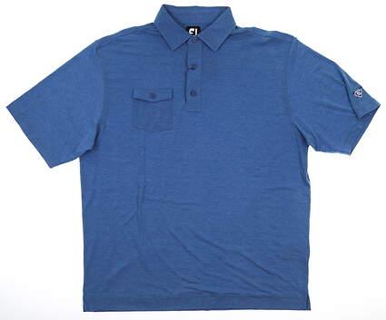 New W/ Logo Mens Footjoy Golf Polo X-Large XL Blue MSRP $80 22838
