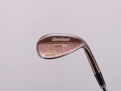Cleveland CG15 Satin Chrome Wedge Gap GW 52° 10 Deg Bounce Cleveland Traction Wedge Steel Wedge Flex Right Handed 35.5in