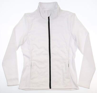 New Womens Footjoy Full Zip Mock Neck Small S White MSRP $137 24698