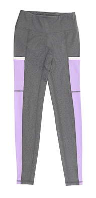 New Womens Footjoy Ankle Leggings X-Small XS Charcoal/Orchid MSRP $88 23913