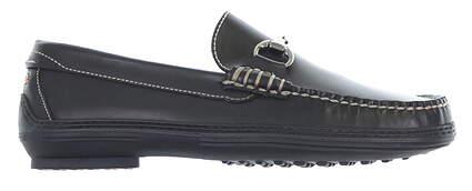New Mens Golf Shoe Peter Millar Loafer Medium 9.5 Black MSRP $300