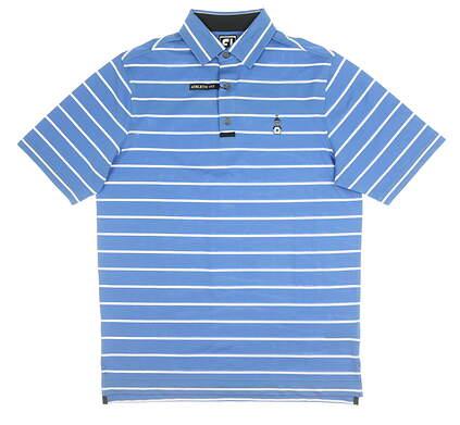 New W/ Logo Mens Footjoy Golf Polo Medium M Blue MSRP $75 20870