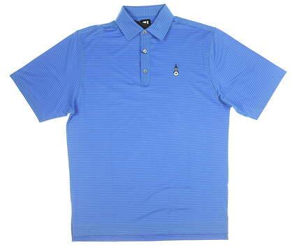 New W/ Logo Mens Footjoy Golf Polo Medium M Blue MSRP $75 20206