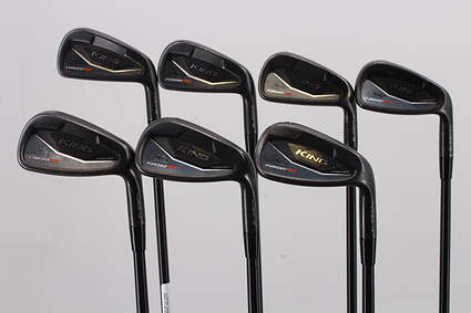 Cobra KING Black Forged Tec Iron Set 5-PW GW True Temper AMT White S300 Steel Stiff Right Handed 38.0in
