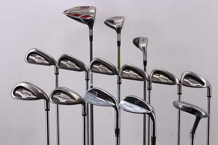 Mens Complete Golf Club Set Right Handed Stiff Flex TaylorMade Driver Titleist 3 Wood Callaway Irons Hybrid Wedge Putter RH MSRP $1799