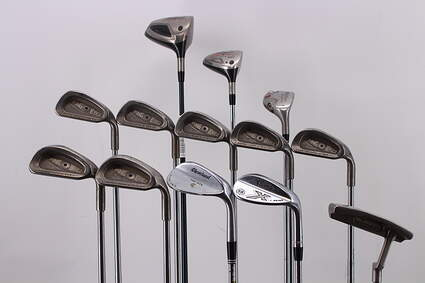 Mens Complete Golf Club Set Right Handed Stiff Flex TaylorMade Driver Callaway Hybrid & Irons Wedges Putter RH MSRP $1699.99