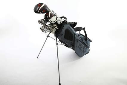 Titleist 718 AP1 917 Complete Golf Club Set Driver Fairway Hybrid Iron Set Wedges Stand Bag Steel Regular Right Handed MSRP $2799.99