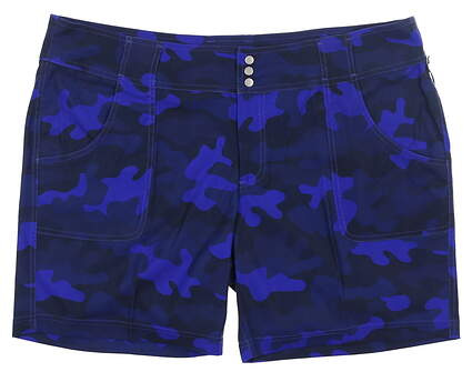 New Womens Jo Fit Belted Golf Shorts 0 Blue MSRP $84 GB505-CAM