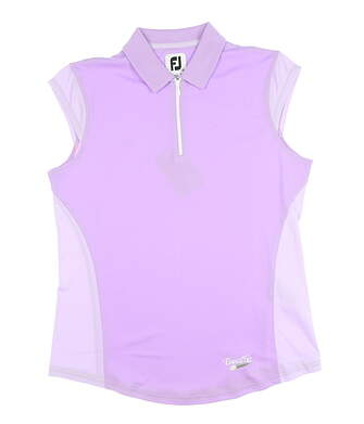 New W/ Logo Womens Footjoy Cap Sleeve Polo Medium M Orchid MSRP $79 25492