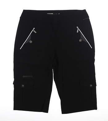 New Womens Jamie Sadock Shorts 12 Jet Black MSRP $110 71346