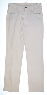 New Mens Straight Down Pants 32 x34 Ivory MSRP $126