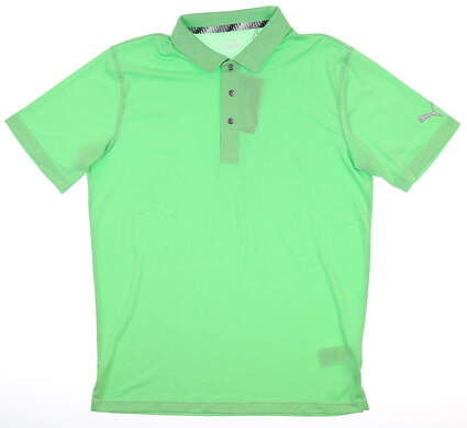 New Mens Puma Grill to Green Polo Medium M Irish Green Heather MSRP $69 577397 04