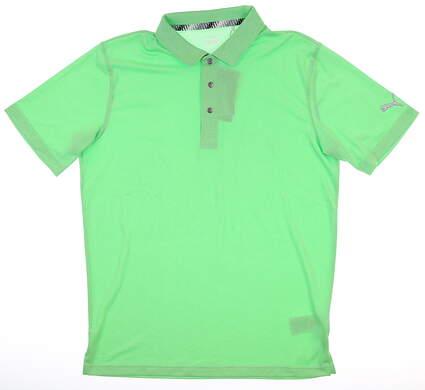 New Mens Puma Grill to Green Polo Medium M Irish Green Heather MSRP $69 577397 04