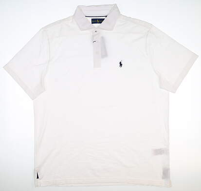 New Mens Ralph Lauren The Biltmore Polo X-Large XL White MSRP $110