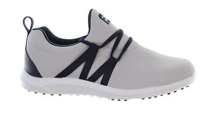 New Womens Golf Shoe Footjoy FJ Leisure Slip-On Medium 7.5 Gray/Navy MSRP $100