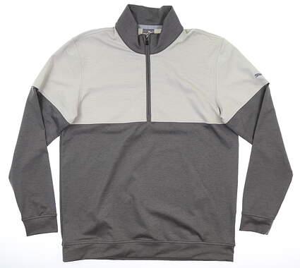 New Mens Puma Warm Up 1/4 Zip Pullover Medium M Quiet Shade MSRP $75 595803 03