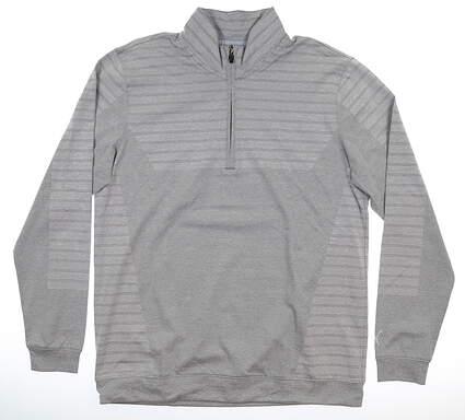 New Mens Puma Mapped 1/4 Zip Pullover Medium M Quiet Shade MSRP $85 595804 02