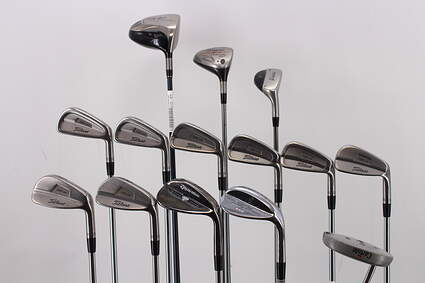 Mens Complete Golf Club Set Right Handed Stiff Flex TaylorMade Driver Titleist 3 Wood & Irons TaylorMade Hybrid Wedge Putter RH MSRP $1699.99