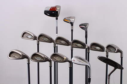 Mens Complete Golf Club Set Right Handed Regular Flex Callaway Driver & Irons TaylorMade 3 Wood & Irons Wedge Putter RH MSRP $1799.99