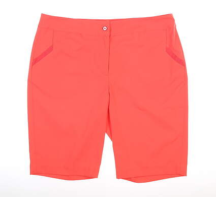 New Womens EP Pro Tech Stretch Ribbon Trim Shorts 8 Ripe Melon MSRP $84 8440NDD