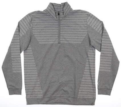 New Mens Puma Mapped 1/4 Zip Pullover Medium M Gray MSRP $85 595804 01