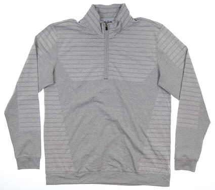 New Mens Puma Mapped 1/4 Zip Pullover Medium M Gray MSRP $85 595804