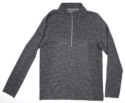 New W/ Logo Mens Under Armour 1/4 Zip Pullover Medium M Gray MSRP $79 UM0694