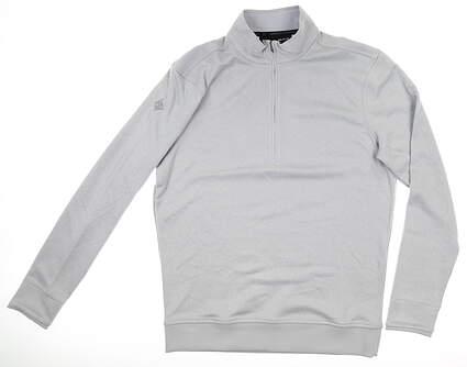 New W/ Logo Mens Under Armour 1/4 Zip Pullover Medium M Gray MSRP $79 UM1297