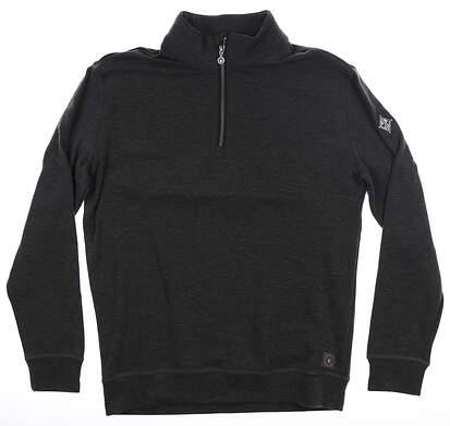 New W/ Logo Mens LinkSoul Polartec 1/4 Zip Pullover Medium M Black MSRP $150 LS482