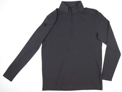 New W/ Logo Mens Under Armour 1/4 Zip Pullover Medium M Gray MSRP $79 UM0606