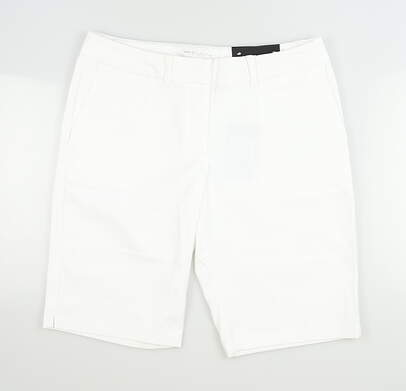 New Womens Nike Golf Shorts 0 White MSRP $74 747135