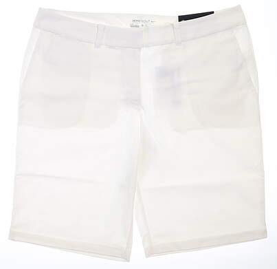 New Womens Nike Golf Shorts 12 White MSRP $75 747135