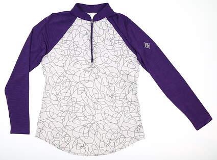 New W/ Logo Womens Jo Fit 1/4 Zip Pullover Small S Multi MSRP $104 UT082-SSW
