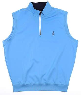 New W/ Logo Mens Fairway & Greene 1/4 Zip Vest Large L Blue MSRP $98 C11513