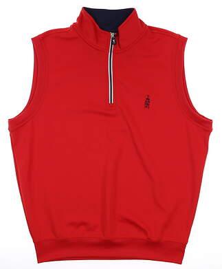 New W/ Logo Mens Fairway & Greene 1/4 Zip Vest Medium M Red MSRP $98 C11513