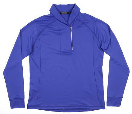 New Womens Ralph Lauren Golf 1/4 Zip Pullover Medium M Periwinkle MSRP $125