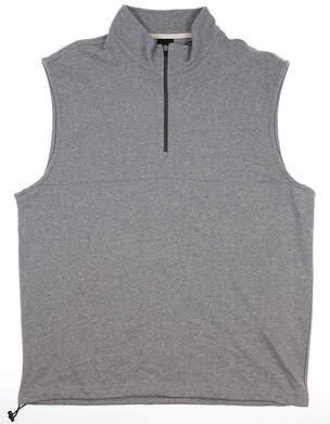 New Mens Dunning 1/4 Zip Golf XL Gray Vest MSRP $85