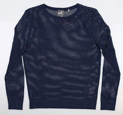 New Womens Puma Golf Sweater Small S Dark Denim MSRP $80 595847 01