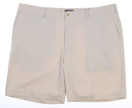 New Mens Peter Millar Golf Shorts 42 Khaki MSRP $85 MC0EB82