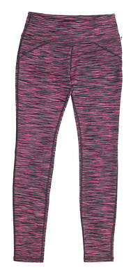 New Womens Straight Down Leggings Small S Pink/ Grey MSRP $90 W50107