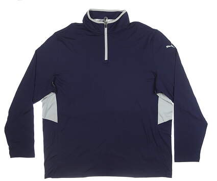 New Mens Puma Rotation 1/4 Zip Pullover XX-Large Peacoat MSRP $80 577900 04