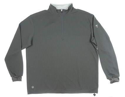 New W/ Logo Mens Straight Down 1/4 Zip Sweater XX-Large XXL Gray MSRP $120 60339