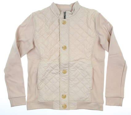 New Womens Straight Down Jacket Medium M Tan MSRP $159 W60290