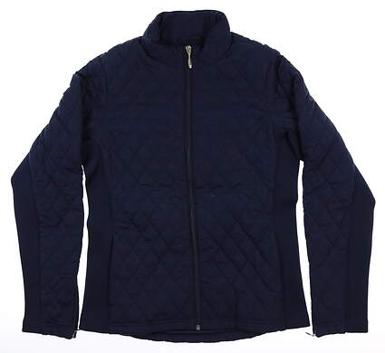 New Womens Straight Down Elm Jacket Small S Navy Blue MSRP $135 W60224