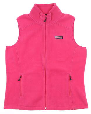 New Womens Vineyard Vines Westerly Vest Large L Charm Pink MSRP $98 2O0067-604