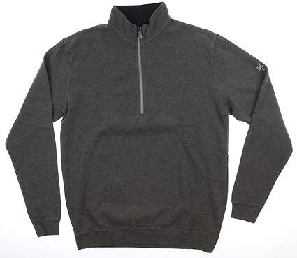 New W/ Logo Mens Straight Down 1/2 Zip Pullover Medium M Gray MSRP $120 60270