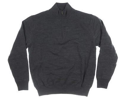 New Mens Footjoy 1/4 Zip Wind Sweater X-Large XL Black MSRP $170 33814